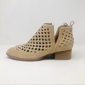 Jeffrey Campbell Taggart Perforated Suede Bootie 1